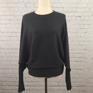MODERN CITIZEN Gray Ribbed Batwing Sweater Sz L